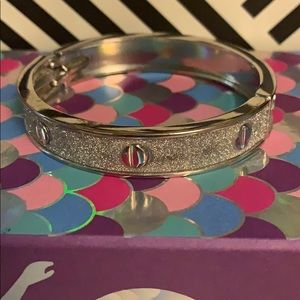 New York and Company Silver Sparkle Bangle